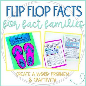 Flip Flop Facts: Activity for Commutative Property & Fact Families Practice