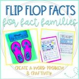 Flip Flop Facts: Activity for Commutative Property & Fact Families Practice