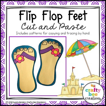 Flip Flop Feet Cut and Paste