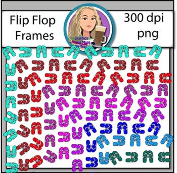 Flip Flop Frame Clipart