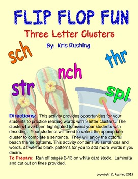 3 Letter Cluster in Context - Flip Flop Fun