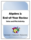 Flip Flop Fun: Algebra 2 End-of-Year Review (Solve and Plot Activity)