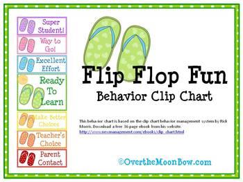 Flip Flop Fun Behavior Clip Chart
