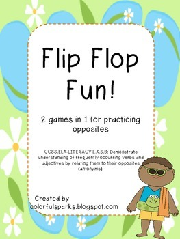 Flip Flop Fun Finding the Opposite card games