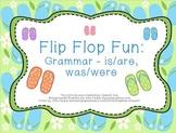 Flip Flop Fun: Grammar - is/are, was/were
