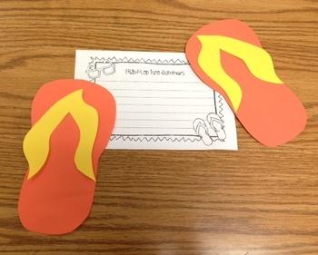 Flip Flop Into Summer ( A summer craftivity!)