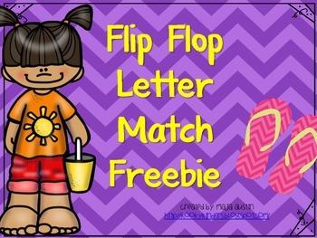 Flip Flop Letter Match Freebie