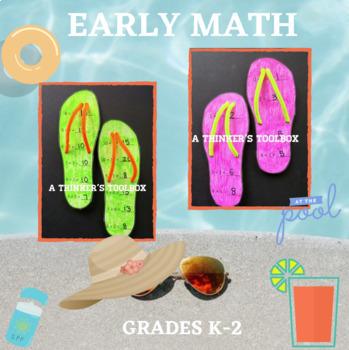 Flip Flop Math Craft and Worksheets (K-2)