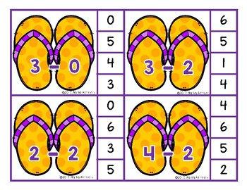 Flip Flop Math - Subtract and Pin {FREEBIE}