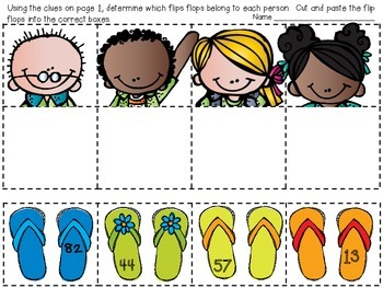Flip Flop Mix Up {Two and Three Digit Place Value Practice}