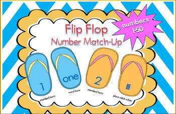 Flip Flop Number Match-Up