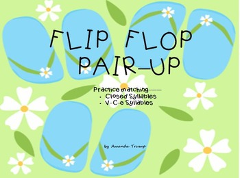 Flip-Flop Pair-Up  (Short Vowels & Long Vowels)