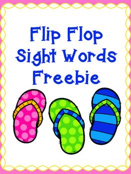 Flip Flop Sight Words Freebie