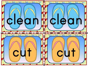 Flip Flop Sight Word Memory Game:Dolch Grade 3 Sight Words (41 Words)
