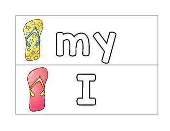 Flip Flop Sight Words for Literacy Centers