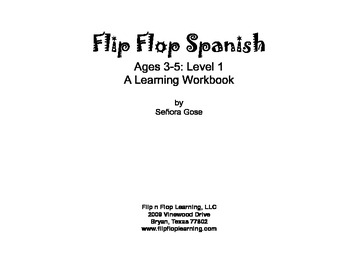 Flip Flop Spanish: Ages 3-5: Level 1