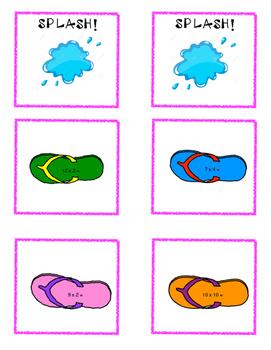 Flip Flop Splash Multiplication Game