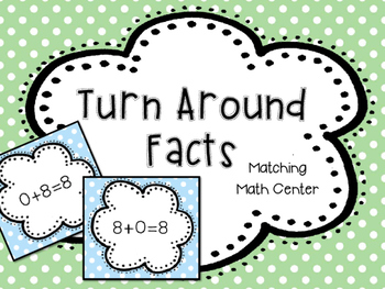 Flip Flop or Turn Around Facts Math Center- Commutative Property of Addition