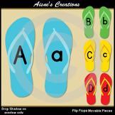 Flip Flops Alphabet Movable Pieces