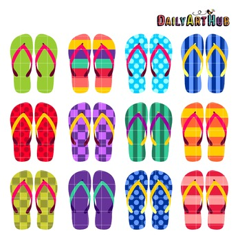 Flip Flops Art Clip Art - Great for Art Class Projects!