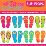 Flip-Flops Clip Art (Digital Use Ok!)