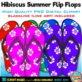 Flip Flops Clipart | Slippers | Summer Clip Art for Person