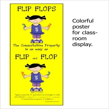 Common Core Math Properties of Operations Commutative Property Flip Flops