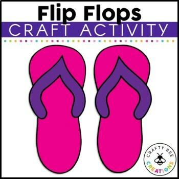 Flip Flops Cut and Paste