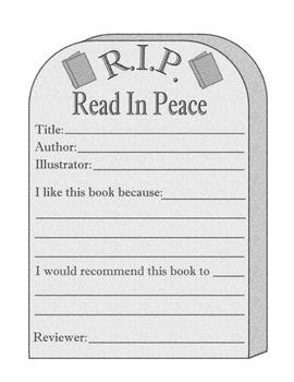 Halloween Tombstone Book Reports