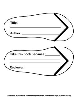 Flip Flops Summer Book Reports
