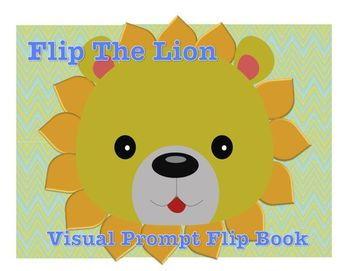 "Flip Friend, ""Leo Lion"" Visual Prompt Flip Book for Spectrum Disorders"