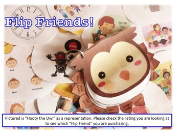 Flip Friends, Hooty the Owl Visual Prompt Book for Spectrum Disorder
