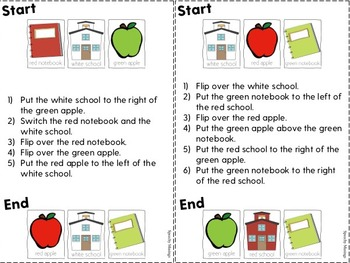 Flip It! A Back to School Themed Following Directions Game Freebie