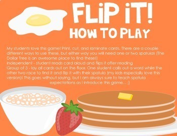 Flip It! A Sight Word Game Bundle {ALL 220 Sight Words}