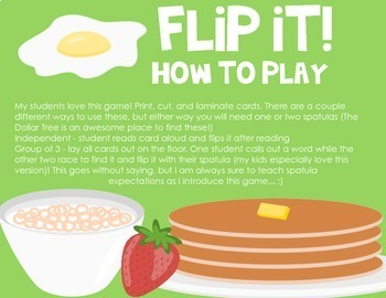 Flip It! A Sight Word Game {Primer List}
