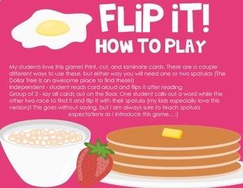Flip It! A Sight Word Game {Third Grade List}