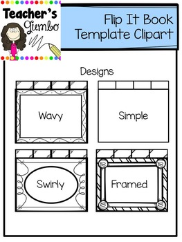 Flip It Book Template Clipart