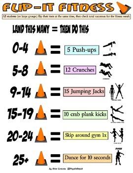 Flip-It Fitness! - 3 instant PE activities with SEL skills