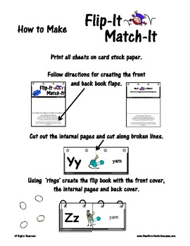 Flip-It Match-It Self-Checking Book - Contractions - Reading Literacy Center