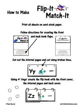 Flip-It Match-It Self-Checking Ring Book - Alphabet - letter / picture / word