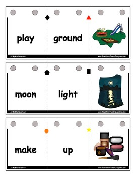 Compound Words Flip-It Match-It Self-Checking Ring Book Common Core Reading