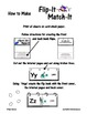 Flip-It Match-It Self-Checking Ring Book - Shapes - Math Center Activity