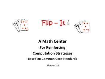 Flip It!  Math Game for Grades 1-5