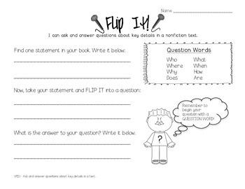 """Flip It"" Questioning Worksheet"