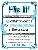 Flip It!- RI 2.1, 3.1, 4.1 Ask and Answer Questions {20 Question Cards}