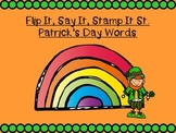 Flip It, Say It, Stamp It St. Patrick's Day Words