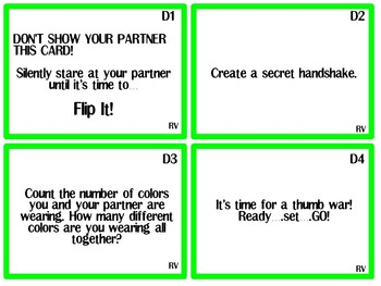 Flip It! Task Cards The Ridiculous Version- A great way to review!