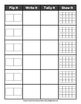 Flip It, Write It, Tally It, Show It: A Domino Activity