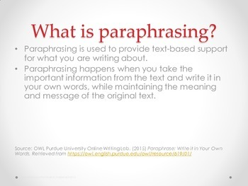 Flip It to Phrase It: Steps to paraphrasing textual evidence for writing