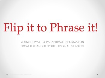 Flip It to Phrase It: Steps to paraphrasing textual eviden